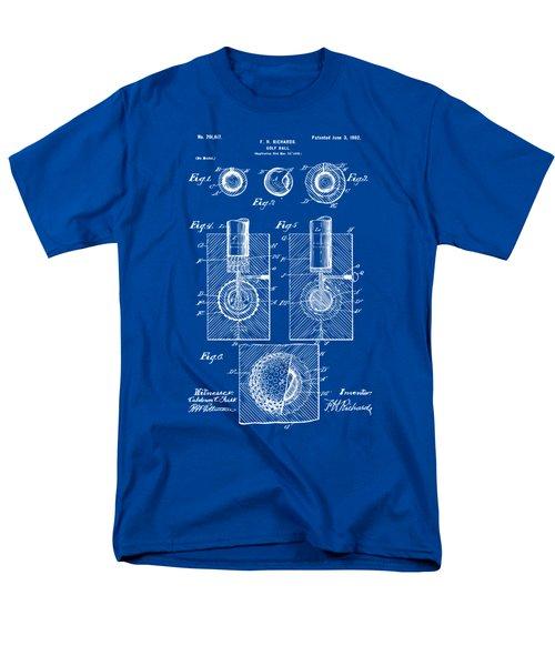 1902 Golf Ball Patent Artwork - Blueprint Men's T-Shirt  (Regular Fit) by Nikki Marie Smith