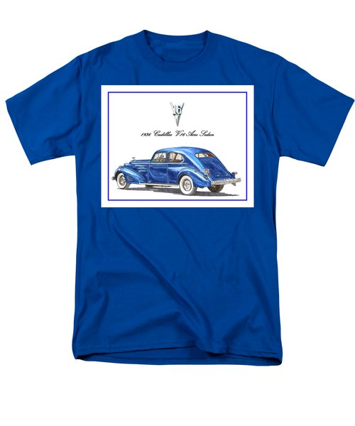 Men's T-Shirt  (Regular Fit) featuring the painting 1936 Cadillac V-16 Aero Coupe by Jack Pumphrey