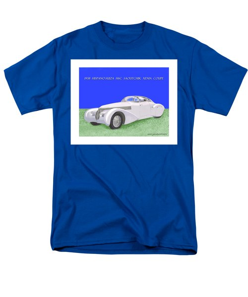 1938 Hispano Suiza H6c Saoutchik Xenia Coupe Men's T-Shirt  (Regular Fit) by Jack Pumphrey
