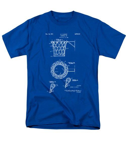 1951 Basketball Net Patent Artwork - Blueprint Men's T-Shirt  (Regular Fit) by Nikki Marie Smith