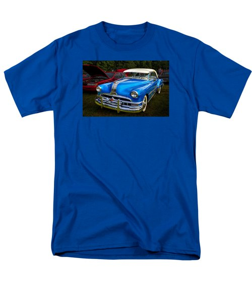 Men's T-Shirt  (Regular Fit) featuring the photograph 1952 Blue Pontiac Catalina Chiefton Classic Car by Betty Denise