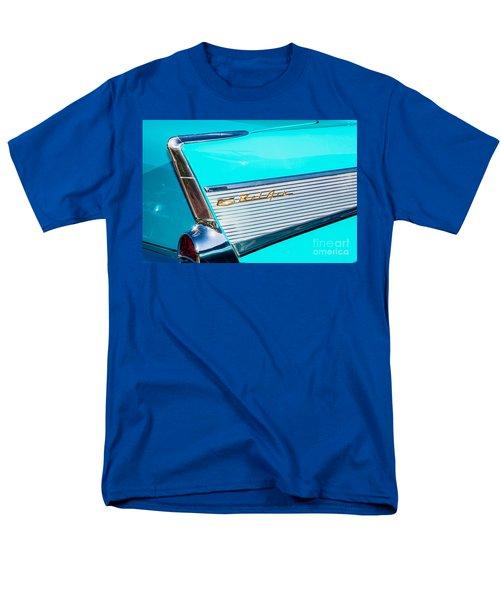 Men's T-Shirt  (Regular Fit) featuring the photograph 1957 Chevy Bel Air Rear Fin by Aloha Art