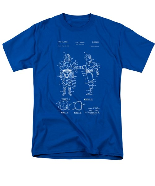1968 Hard Space Suit Patent Artwork - Blueprint Men's T-Shirt  (Regular Fit) by Nikki Marie Smith