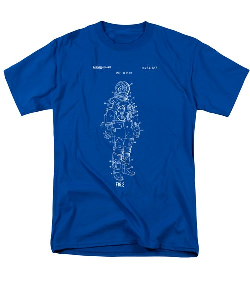1973 Astronaut Space Suit Patent Artwork - Blueprint Men's T-Shirt  (Regular Fit) by Nikki Marie Smith