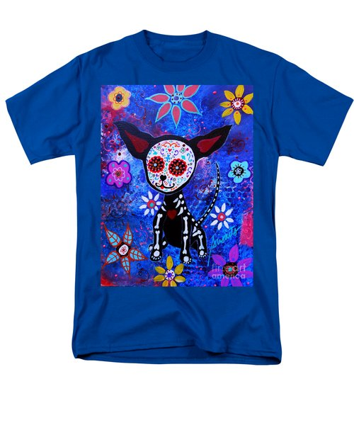 Chihuahua Day Of The Dead Men's T-Shirt  (Regular Fit)