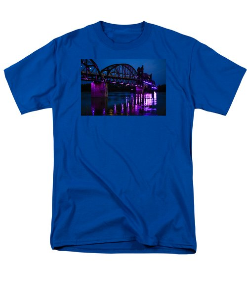 Rock Island Bridge Arkinsas Men's T-Shirt  (Regular Fit) by Chris Smith