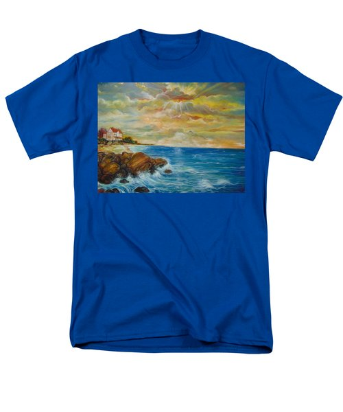 Men's T-Shirt  (Regular Fit) featuring the painting A Place In My Dreams by Emery Franklin