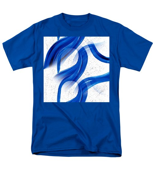 Abstract Acrylic Painting Blues Series 2 Men's T-Shirt  (Regular Fit) by Saribelle Rodriguez