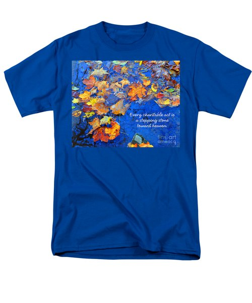 Men's T-Shirt  (Regular Fit) featuring the photograph Adironack Laughing Water Charity by Diane E Berry