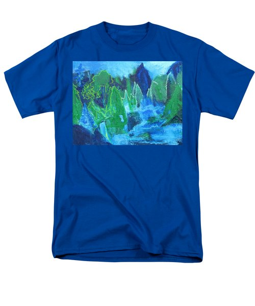 Men's T-Shirt  (Regular Fit) featuring the painting Adirondack Spring by Betty Pieper