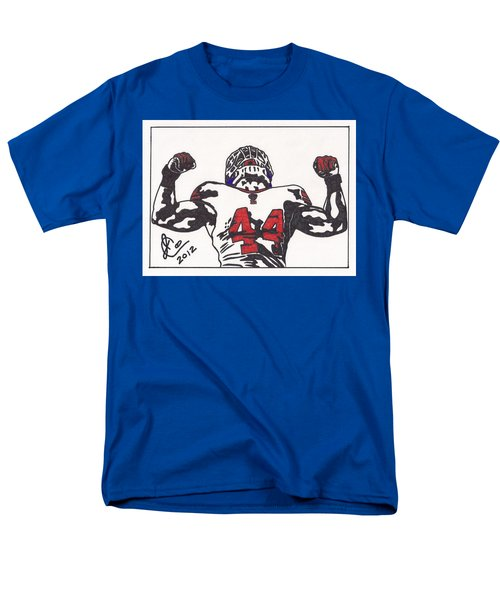 Men's T-Shirt  (Regular Fit) featuring the drawing Ahmad Bradshaw by Jeremiah Colley