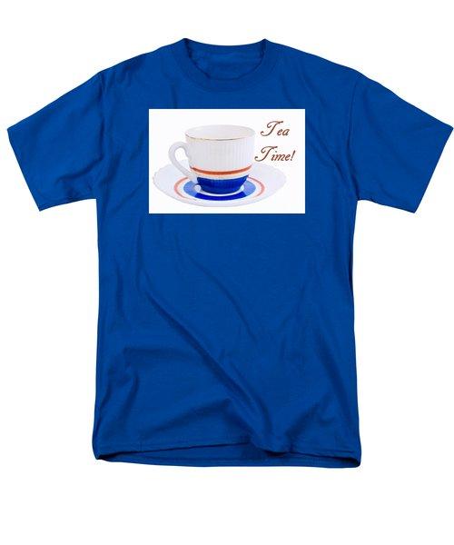 Antique Teacup From Japan With Tea Time Invitation Men's T-Shirt  (Regular Fit) by Vizual Studio