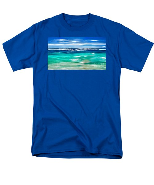 Aqua Waves Men's T-Shirt  (Regular Fit) by Anthony Fishburne