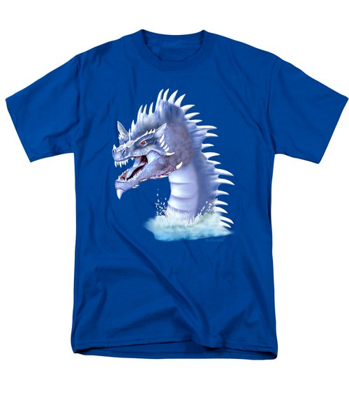 Arctic Ice Dragon Men's T-Shirt  (Regular Fit) by Glenn Holbrook
