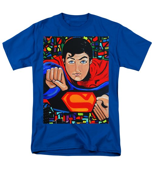 Art Deco  Superman Men's T-Shirt  (Regular Fit) by Nora Shepley