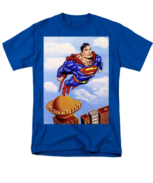 Men's T-Shirt  (Regular Fit) featuring the painting Superman by Teresa Wing