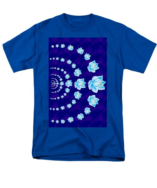 Blue Lotus Tunnel Men's T-Shirt  (Regular Fit) by Samantha Thome