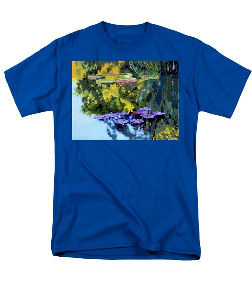 Autumn Reflections On The Pond Men's T-Shirt  (Regular Fit) by John Lautermilch