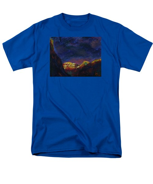 Autumn Sunset Over Half Dome 2013 A Men's T-Shirt  (Regular Fit) by Walter Fahmy