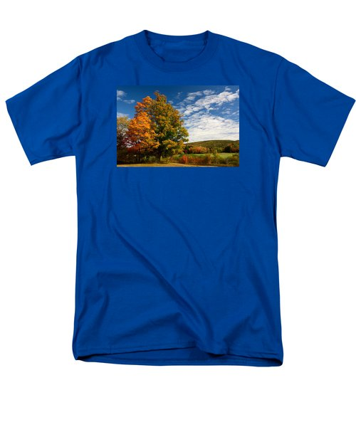 Autumn Tree On The Windham Path Men's T-Shirt  (Regular Fit) by Nancy De Flon