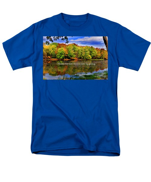 Men's T-Shirt  (Regular Fit) featuring the photograph Autumn Wonders Giving by Diane E Berry