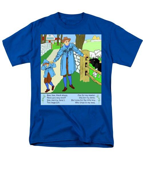 Baa, Baa, Black Sheep Nursery Rhyme Men's T-Shirt  (Regular Fit) by Marian Cates