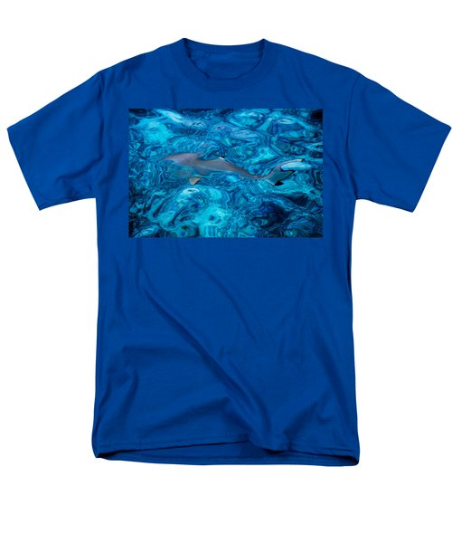 Baby Shark In The Turquoise Water. Production By Nature Men's T-Shirt  (Regular Fit) by Jenny Rainbow