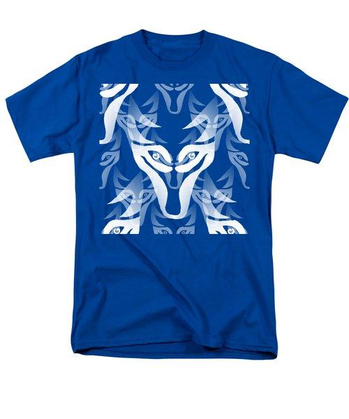 Background Choice White Wolf Men's T-Shirt  (Regular Fit) by Barbara Moignard