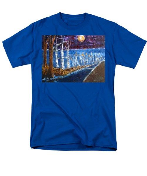 Beach Path At Night Men's T-Shirt  (Regular Fit) by Betty Pieper