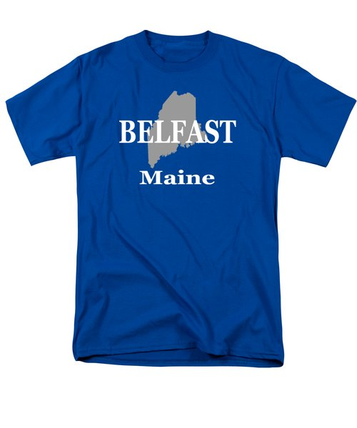 Men's T-Shirt  (Regular Fit) featuring the photograph Belfast Maine State City And Town Pride  by Keith Webber Jr
