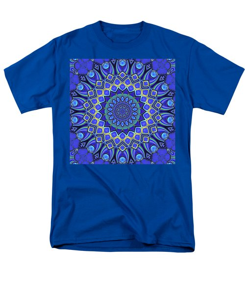 Men's T-Shirt  (Regular Fit) featuring the digital art Bella - Blue by Wendy J St Christopher