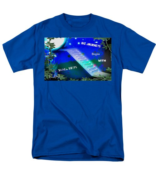 Big Journeys......small Steps Men's T-Shirt  (Regular Fit) by Diana Riukas