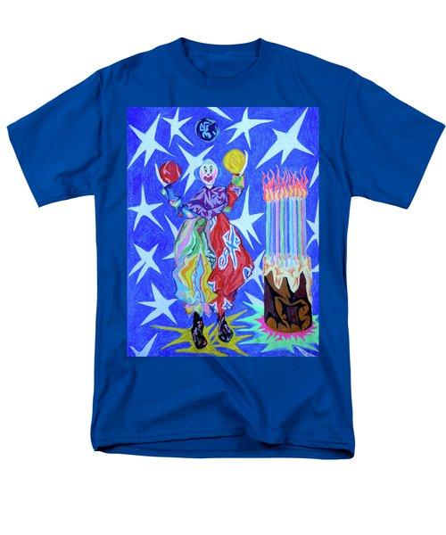 Birthday Clown Men's T-Shirt  (Regular Fit) by Robert SORENSEN