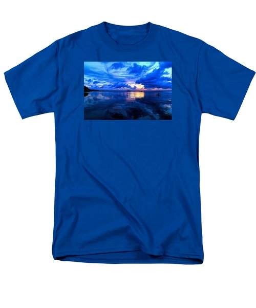 Men's T-Shirt  (Regular Fit) featuring the photograph Blazing Blue Sunset by Anthony Baatz