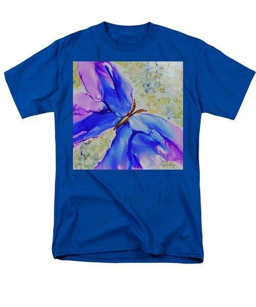 Blue Butterfly Men's T-Shirt  (Regular Fit) by Joanne Smoley