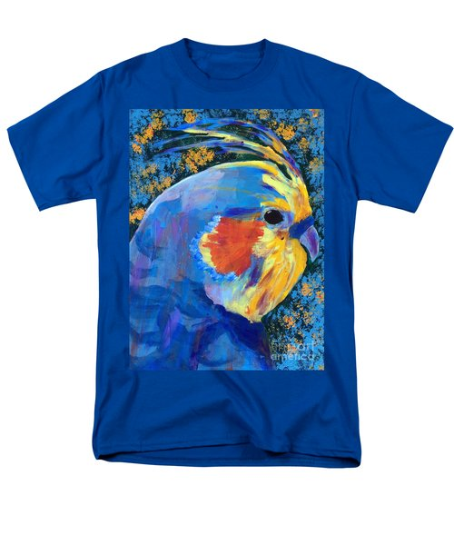 Men's T-Shirt  (Regular Fit) featuring the painting Blue Cockatiel by Donald J Ryker III