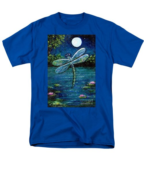 Blue Moon Dragonfly Men's T-Shirt  (Regular Fit) by Sandra Estes