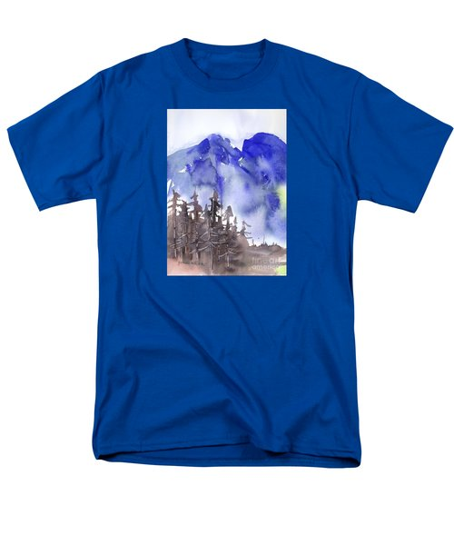 Men's T-Shirt  (Regular Fit) featuring the painting Blue Mountains by Yolanda Koh