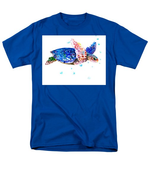 Blue Sea Turtle Men's T-Shirt  (Regular Fit) by Suren Nersisyan