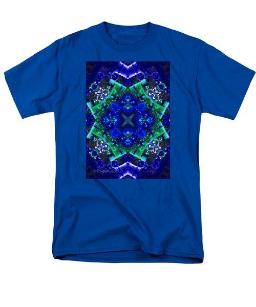 Blue Star Mandala Men's T-Shirt  (Regular Fit) by Mimulux patricia no No
