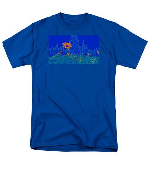 Blue Summer Men's T-Shirt  (Regular Fit)