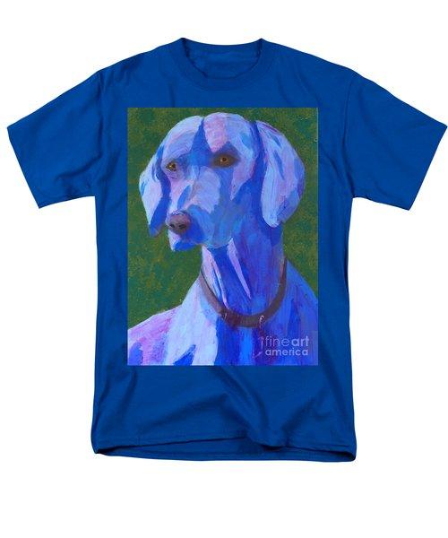 Blue Weimaraner Men's T-Shirt  (Regular Fit) by Donald J Ryker III