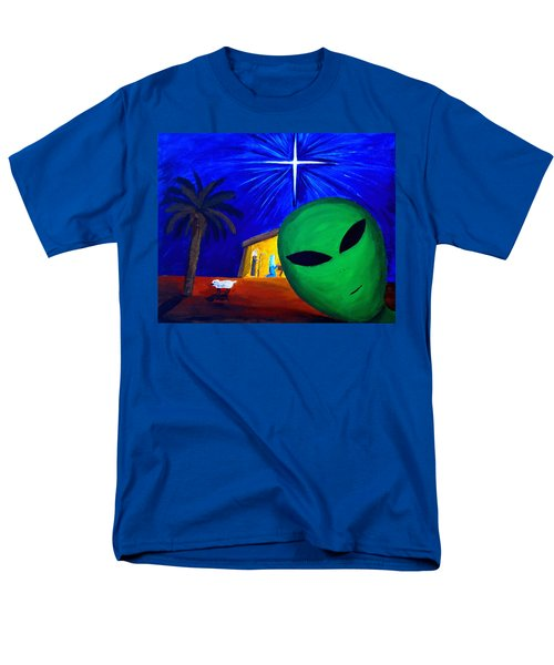 Men's T-Shirt  (Regular Fit) featuring the painting Bob At The Manger by Lola Connelly