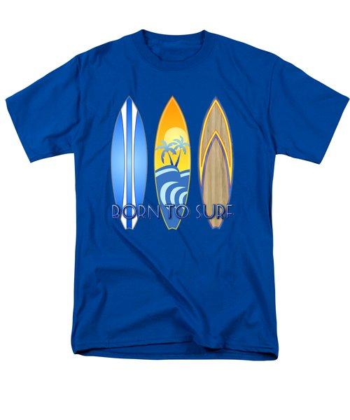 Born To Surf And Tiki Masks Men's T-Shirt  (Regular Fit)
