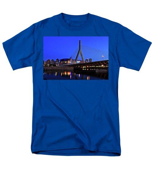 Boston Garden And Zakim Bridge Men's T-Shirt  (Regular Fit) by Rick Berk