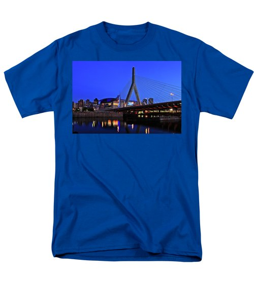 Boston Garden And Zakim Bridge Men's T-Shirt  (Regular Fit)
