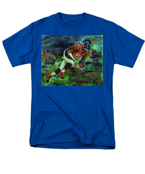 Broncos - Orange And Blue Horse Power Men's T-Shirt  (Regular Fit) by Walter Fahmy