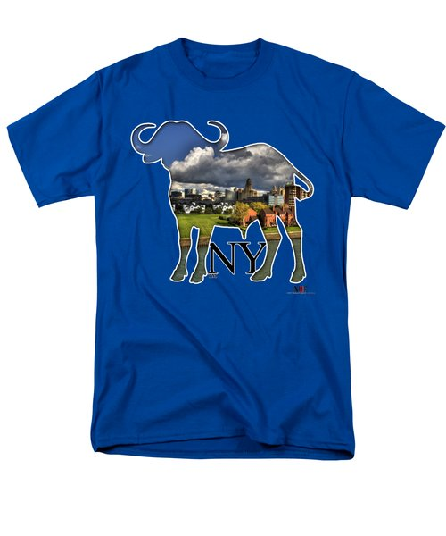 Buffalo Ny Along The Marina Men's T-Shirt  (Regular Fit) by Michael Frank Jr