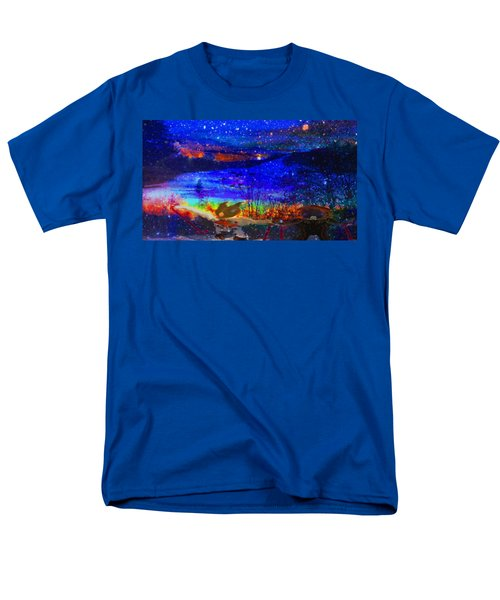 Men's T-Shirt  (Regular Fit) featuring the painting Bunnies At The Slopes by Mike Breau