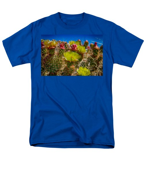 Cactus At The End Of The Road Men's T-Shirt  (Regular Fit) by Bartz Johnson